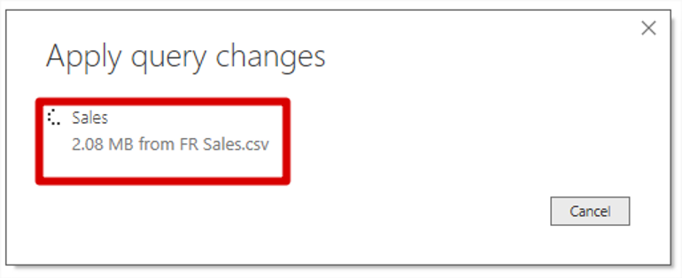 Power Bi Apply Query Changes