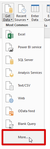 Power Bi Get Data Option