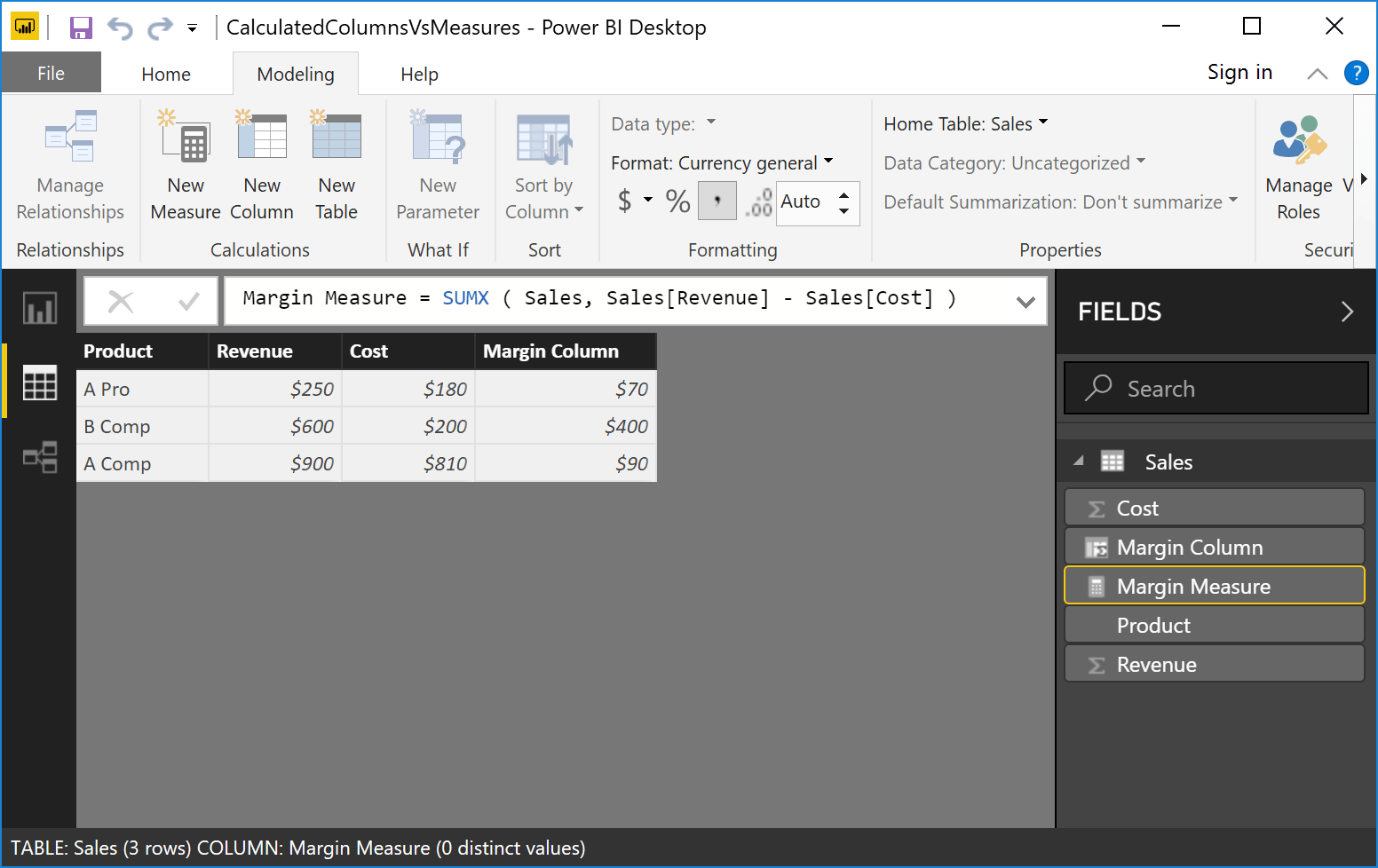 Power BI Tutorial: When to Use Calculated Columns and Measures