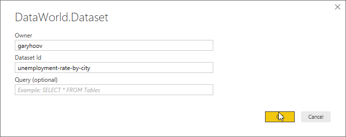Pbi Dataset Connector