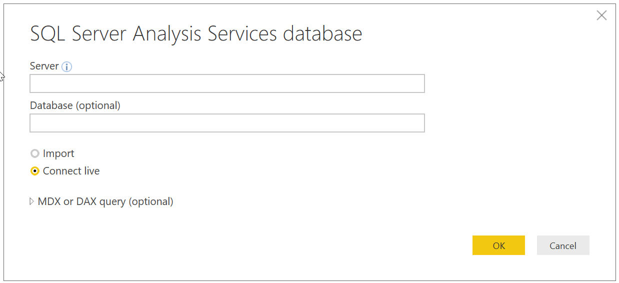 How to Connect Power BI with SQL Server Analysis Services Database