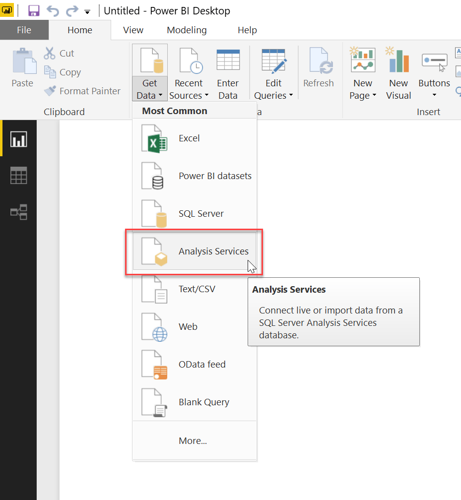 How to Connect Power BI with SQL Server Analysis Services
