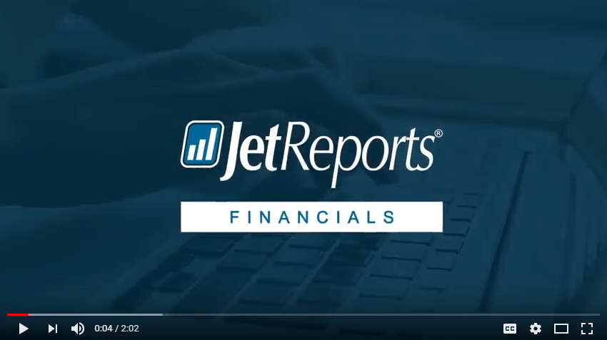 Watch a 2 minute overview of Jet Reports Financials