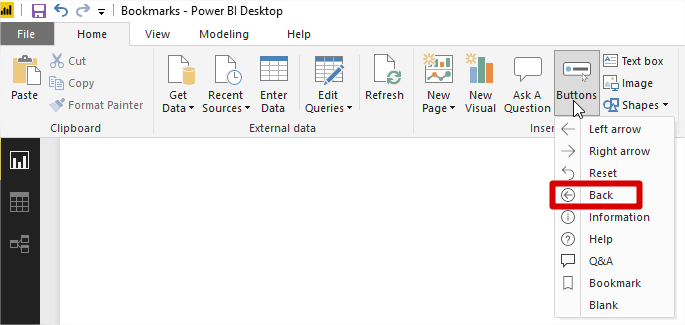Power Bi Back
