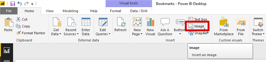 How to Create Power BI Bookmarks Tutorial