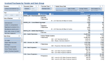 Ax019 Enterprise Invoiced Purchases By Vendor And Item Group V1.9