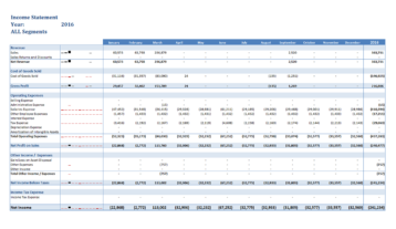 Gp007 Professional Income Statement 12 Months By Segment