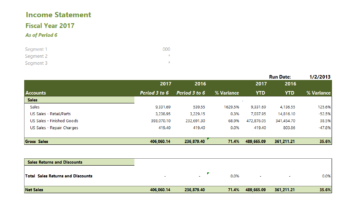 Gp019 Professional Gl Income Statement
