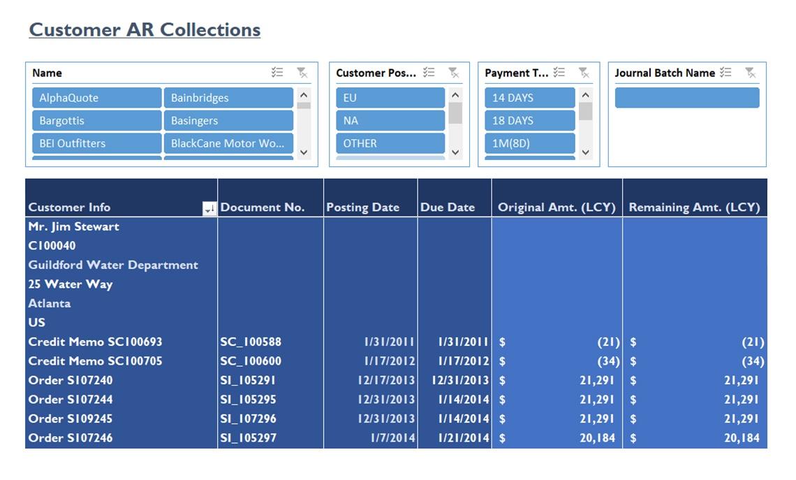 Nav077 Customer Ar Collections