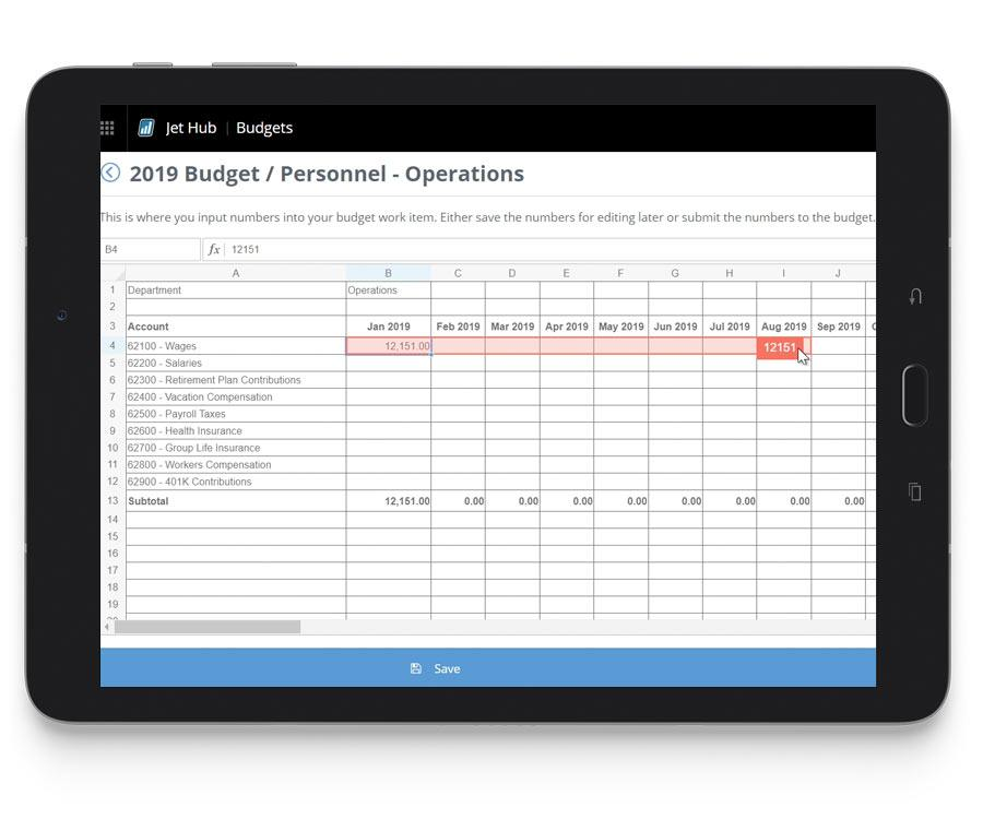 Analytics Feature 3 Jet Budgets