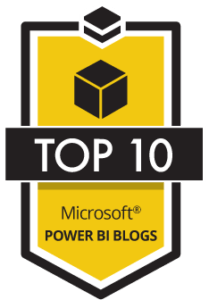 Top 10 Power Bi Blogs Badge