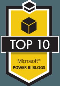 Top 10 Power Bi Blogs Badge