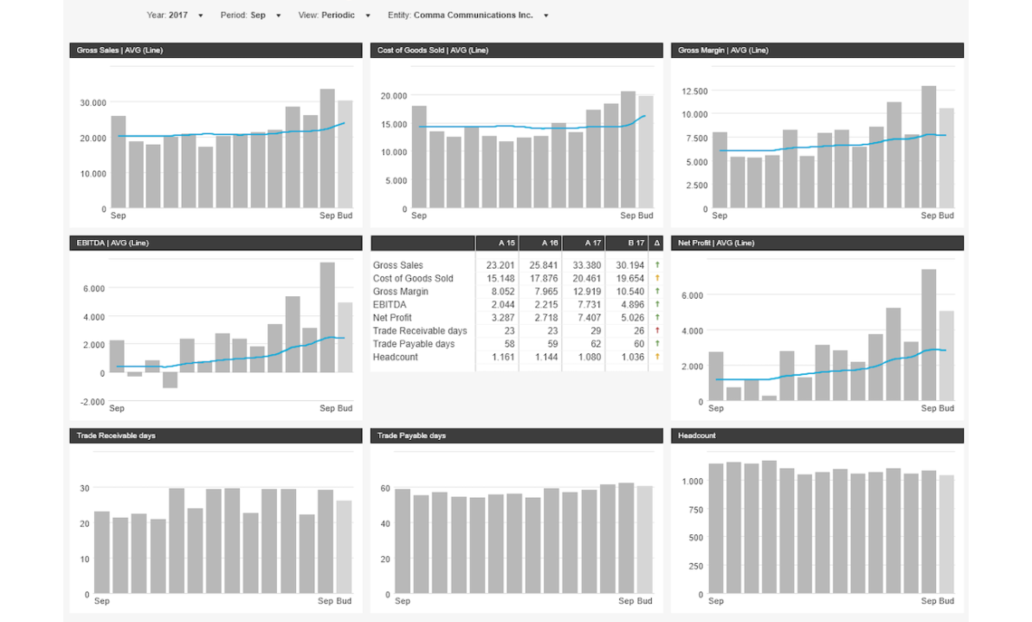Dashboard 13 Months Rolling Splitted Dimension Example Dashboard