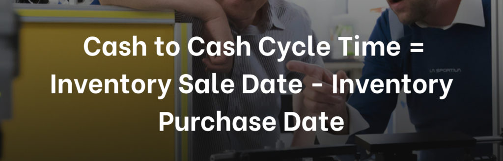 Manufacturing KPI Cash To Cash Cycle Time