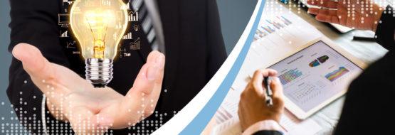 Lightbulb and CFO looking at cash flow management