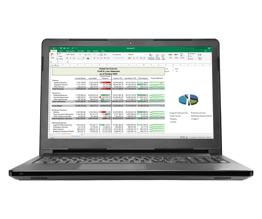 Self-service healthcare reporting software