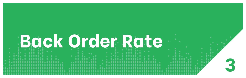 Back Order Rate KPI
