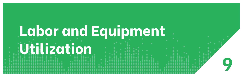 Labor and Equipment Utilization Distribution KPI