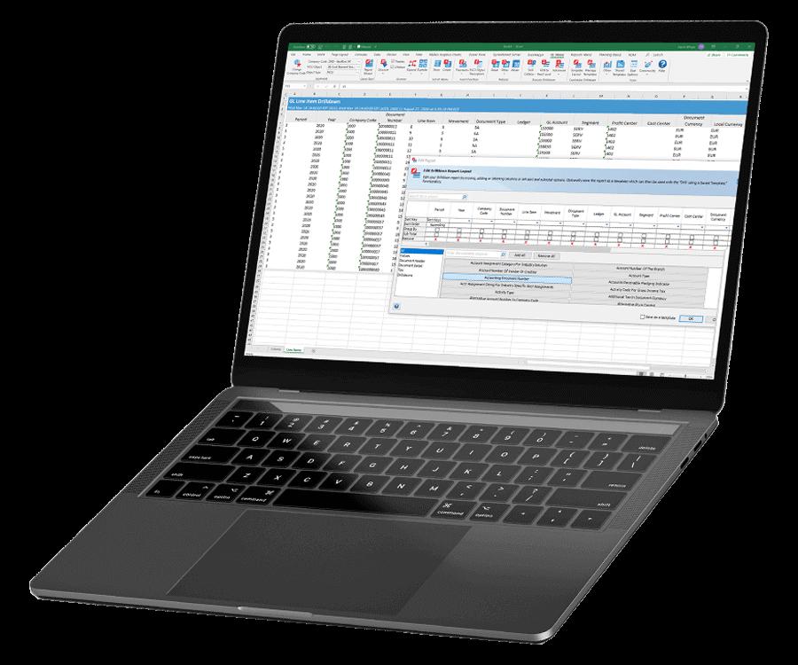 SAP ECC and S/4HANA Financial Reporting Dashboard