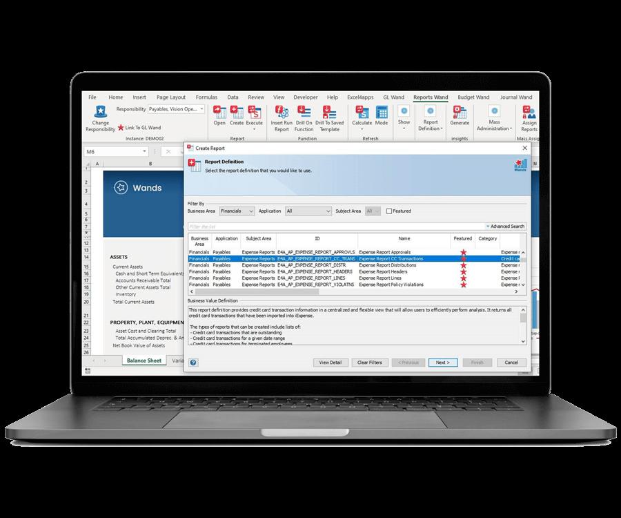 Oracle ERP Cloud Customizable Report