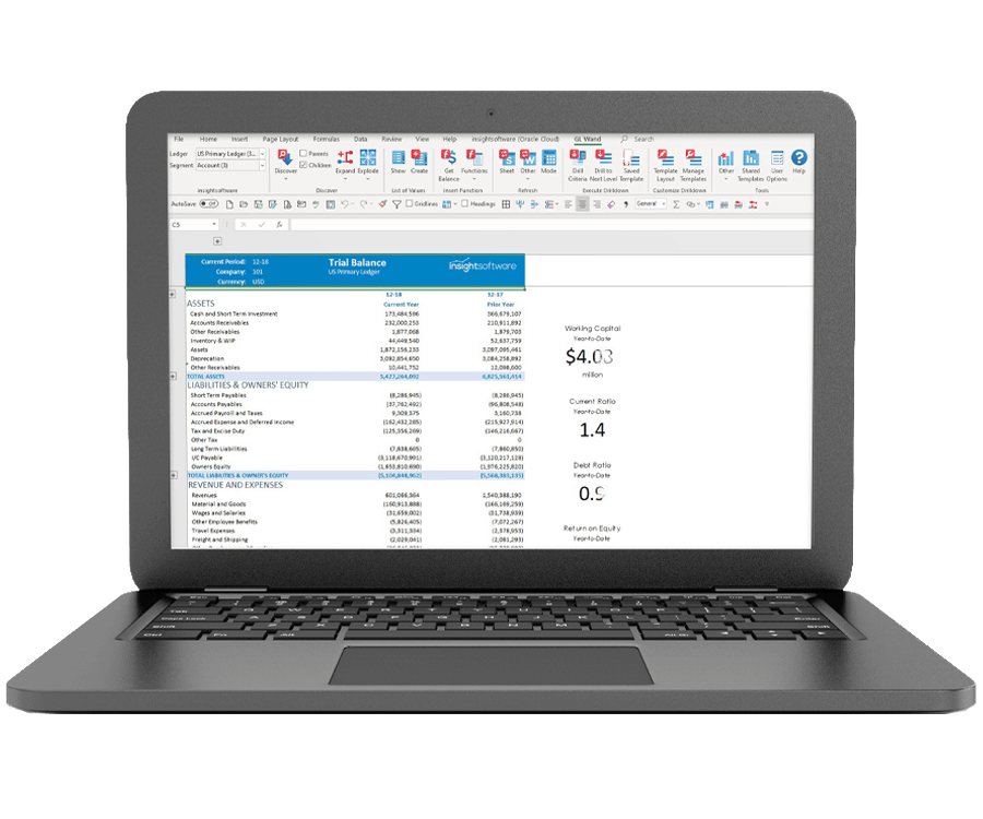 Oracle ERP Cloud Real Time Reports