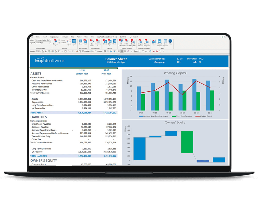 Oracle ERP Cloud Reporting View