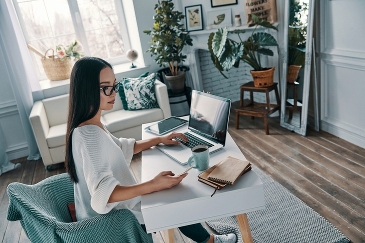 Working At A Desk