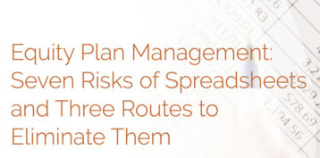 0017 Whitepaper Equity Plan Management Seven Risks Of Spreadsheets And Three Routes To Elimate Them
