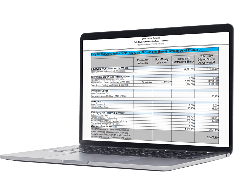 Certent Cap Table Solution Page Feature 1 Generate Accurate Ledger Based Cap Tables