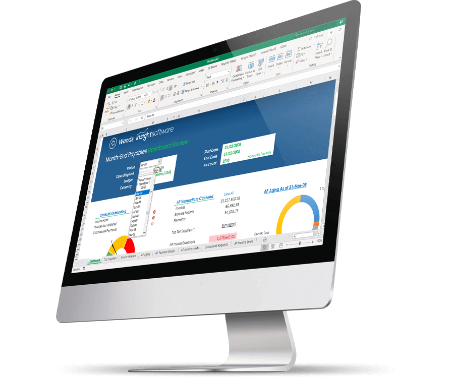 Oracle EBS Reporting Dashboard