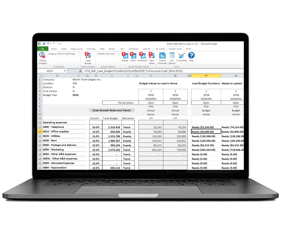 Oracle EBS Budgeting Tool