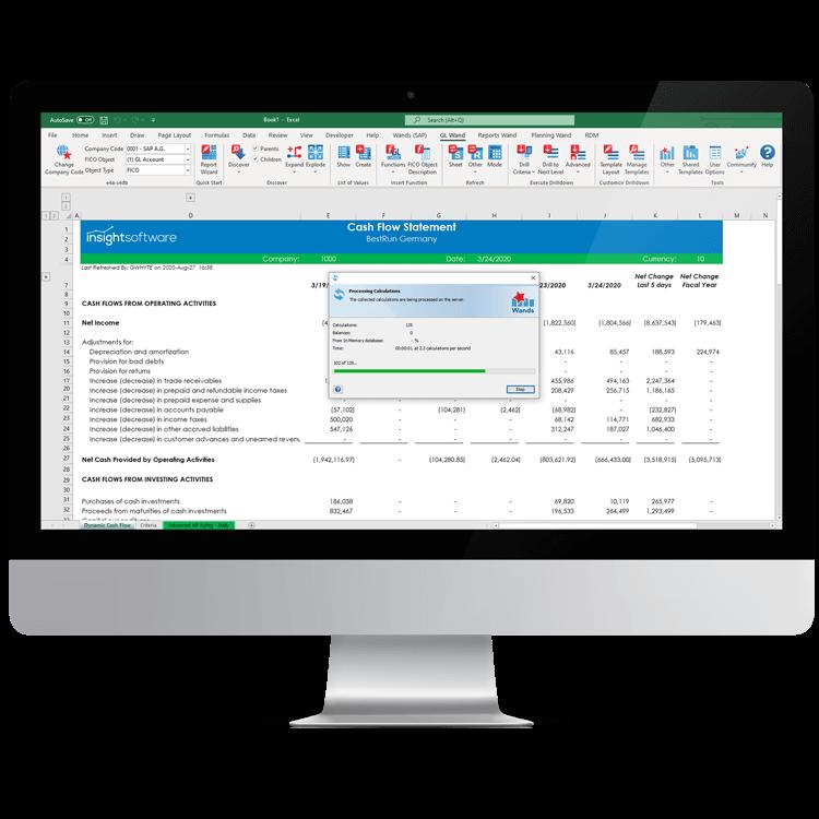 SAP Financial Reporting Tools Header