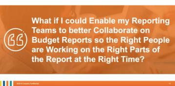 Simplify Budget Reporting Webinar