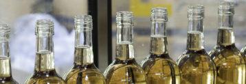 Weinflaschen vom Weinhändler Bataillard